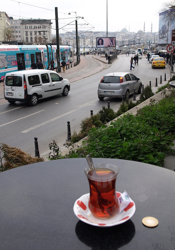 tea-by-Galata-Bridge-Istanbul