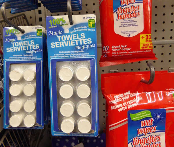 Cruise dollar store aisles for travel products
