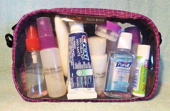Organizing a 3-1-1- bag