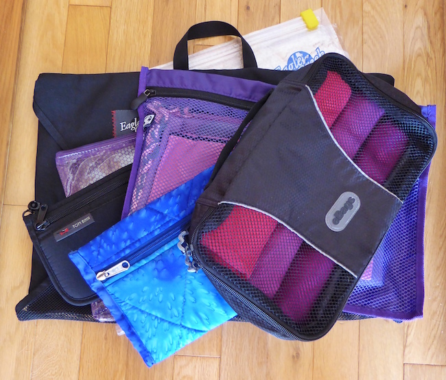 Pack light and tight with packing organizers