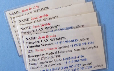 How to make a traveller's emergency contact card