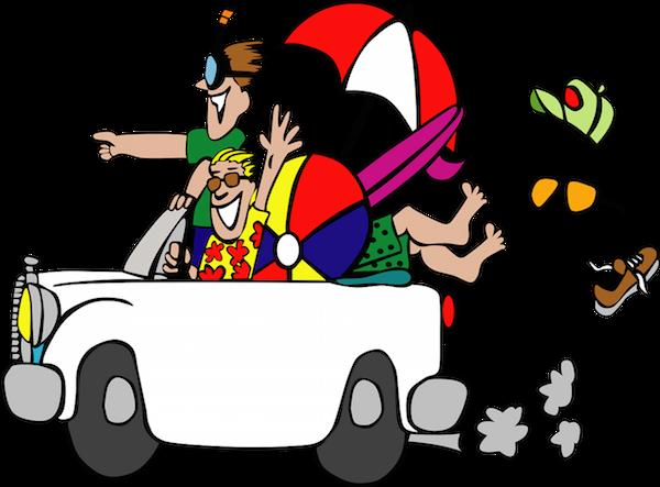 Travel Cartoon Packing Light Travel