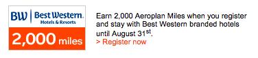 Aeroplan-best-western-promotion