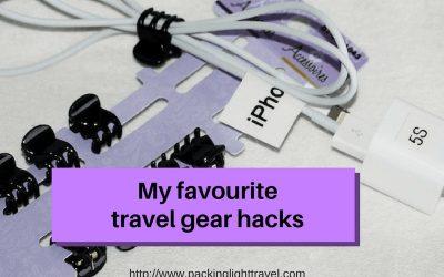 My favourite travel gear hacks