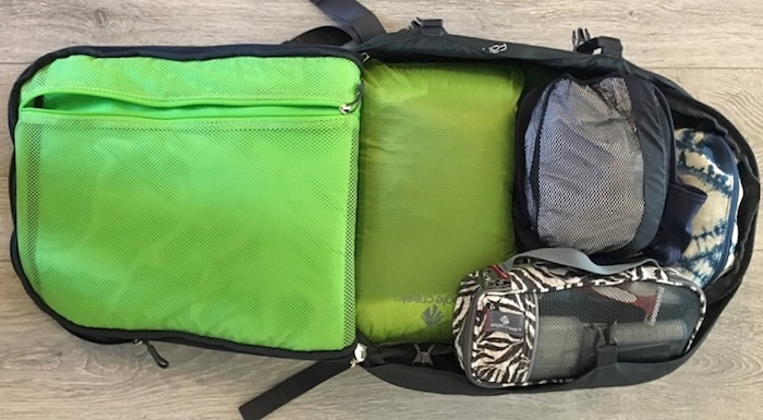 Osprey-with-packing-organizers