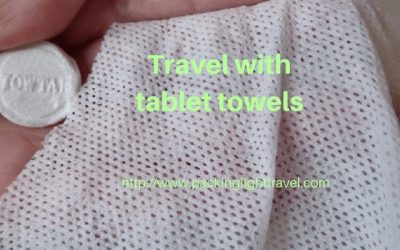 Travel with tablet towels