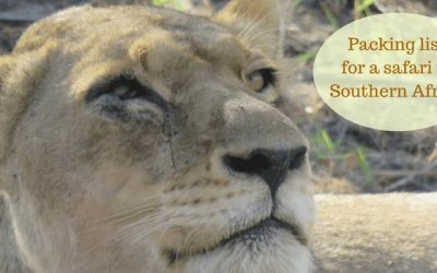 Packing list for a safari in Southern Africa