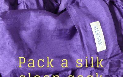 Pack a silk sleep sack