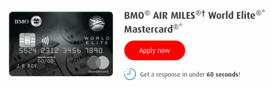 BMO-Air-Miles-World-Elite MasterCard-application