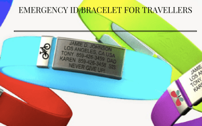 Emergency ID bracelet for travellers