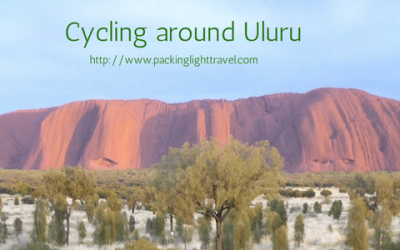 Cycling around Uluru