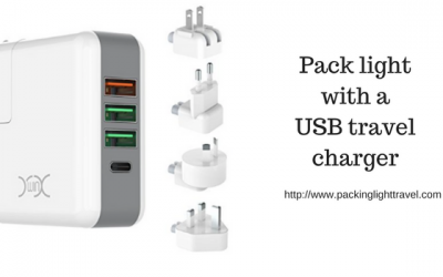Pack light with a USB travel charger