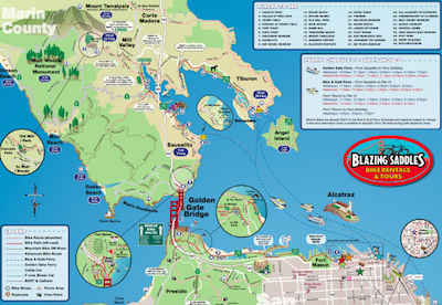 Biking Golden Gate Bridge Map Packing Light Travel