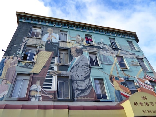 North Beach Jazz Mural Ng Light