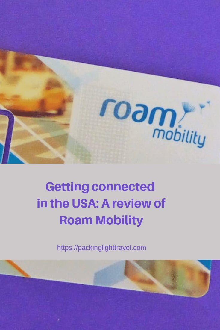 Getting connected in the USA: A review of Roam Mobility - Packing