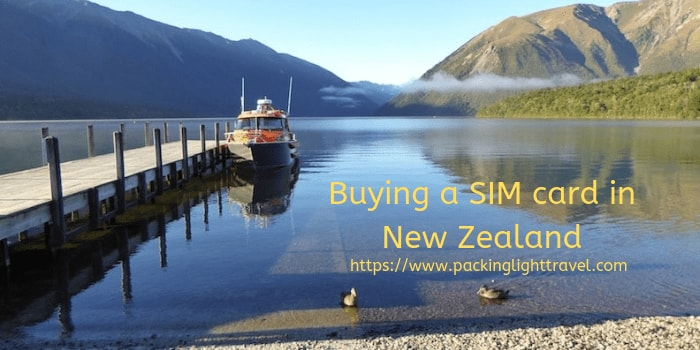 Buying a SIM card in New Zealand - Packing Light Travel