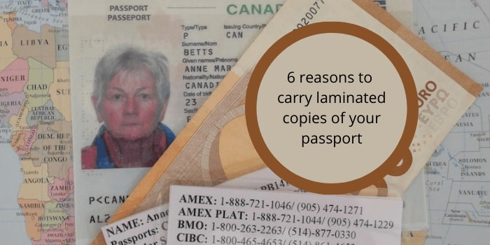 Six reasons to carry laminated copies of your passport